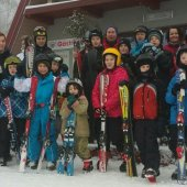 Zimowy obóz ministrancki 2015 - nasi ministranci na nartach
